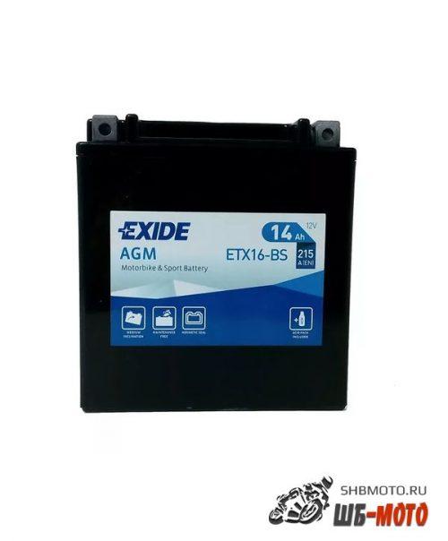 Аккумулятор EXIDE AGM YTX16BS YTX16-BS