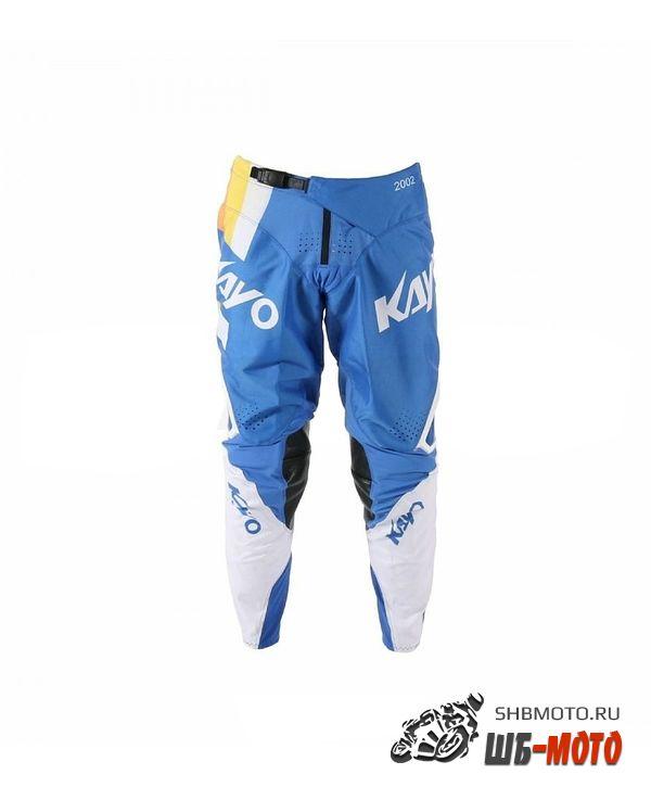 Брюки для мотокросса KAYO синие/белые