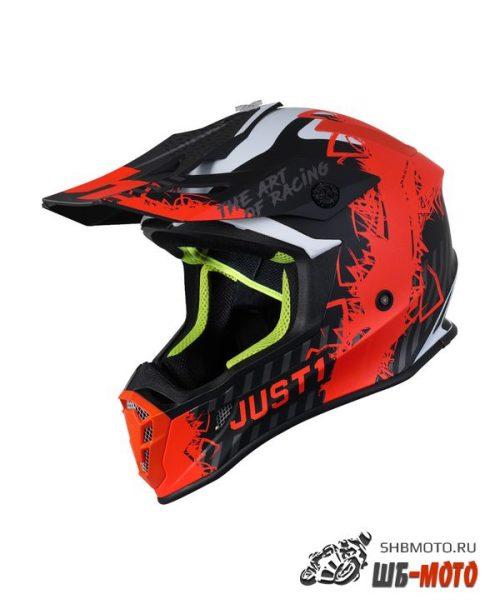 JUST1 Шлем J38 MASK Hi-Vis оранжевый/серый/черный матовый (2021)