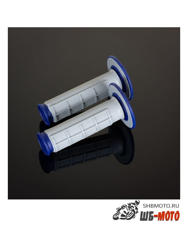Ручки руля Грипсы RENTHAL MX Dual Compound 1/2 Waffle синие