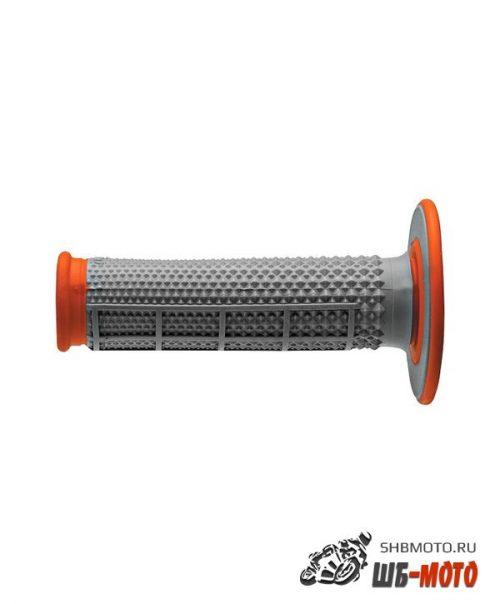 Ручки руля Грипсы RENTHAL MX Dual Compound Tapered 1/2 Waffle оранжевые