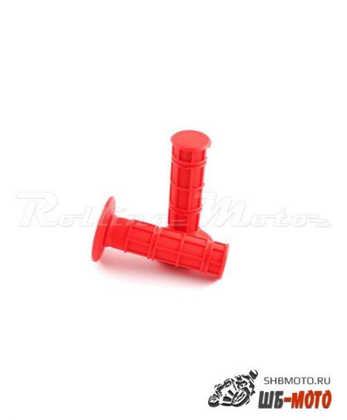 Ручки руля Грипсы SM-PARTS MX 1/2 Waffle красные