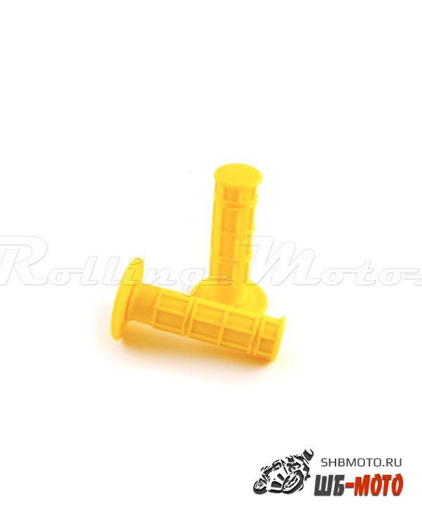 Ручки руля Грипсы SM-PARTS MX 1/2 Waffle желтые