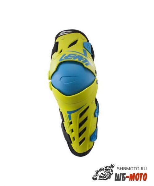 Наколенники Leatt Dual Axis Knee & Shin Guard Lime/Blue L/XL