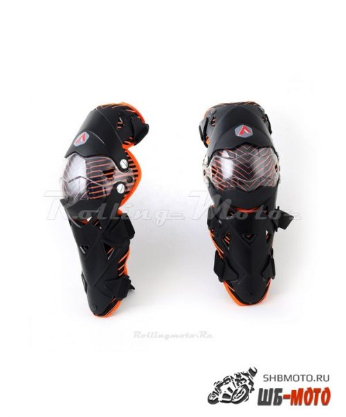 Защита колена шарнирная ATAKI SC-111 черная/оранжевая