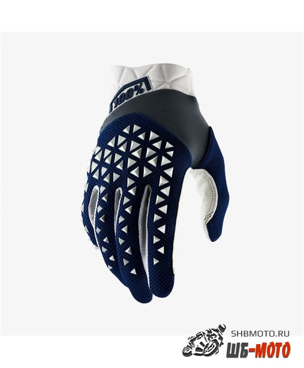 Мотоперчатки 100% Airmatic Glove Navy/Steel/White