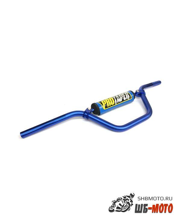 Руль PRO-TAPER алюминиевый с перемычкой средний синий