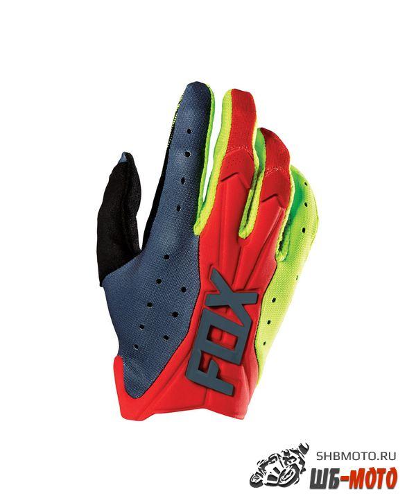 Fox Flexair Race мотоперчатки (ц., красно-желтый)
