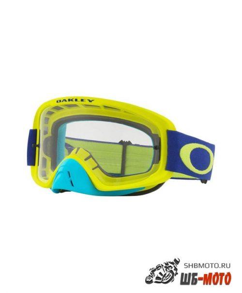 Очки для мотокросса OAKLEY O-Frame 2.0 Flo синие-желтые / темно-серая (OO7068-46)