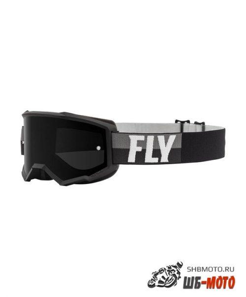 Очки для мотокросса FLY RACING ZONE (2021) чёрные/белые, тонированные