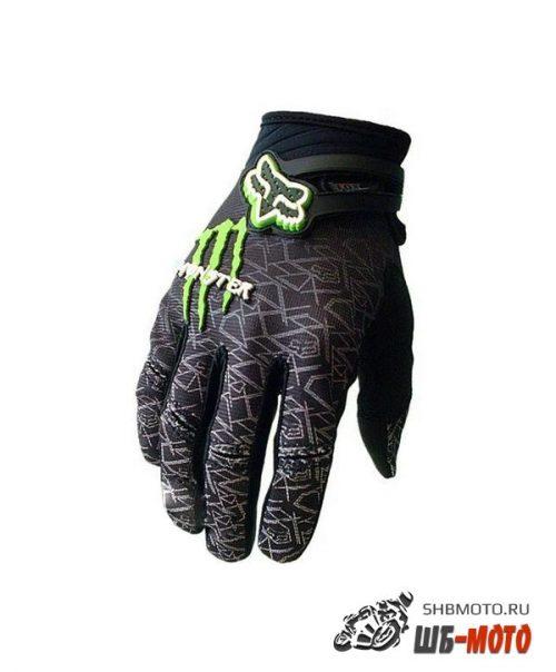 Fox Monster Energy кроссовые мотоперчатки Черн