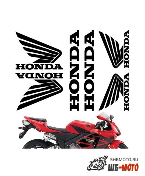 CRAZY IRON Комплект наклеек Honda pack2 белый