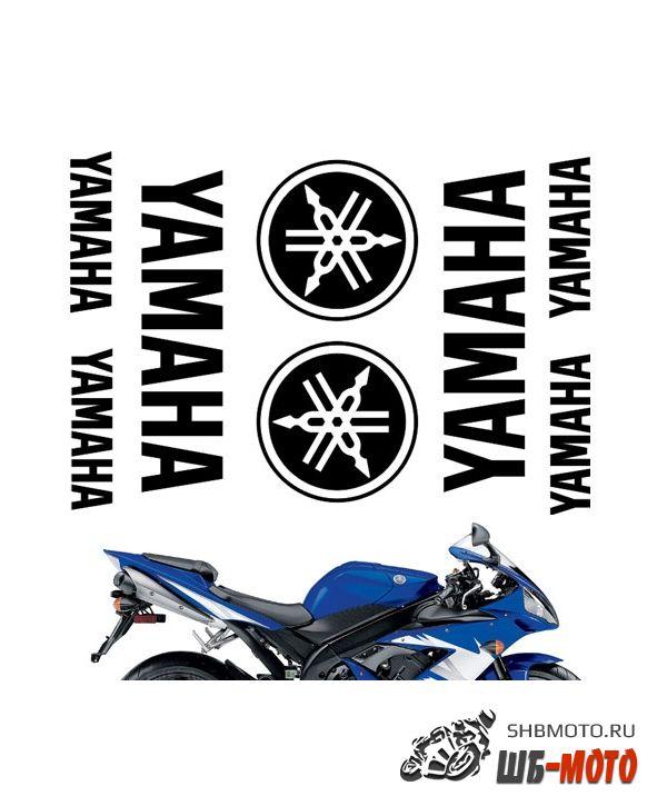 """CRAZY IRON Комплект наклеек """"YAMAHA pack 2"""" Цвет: Черный"""
