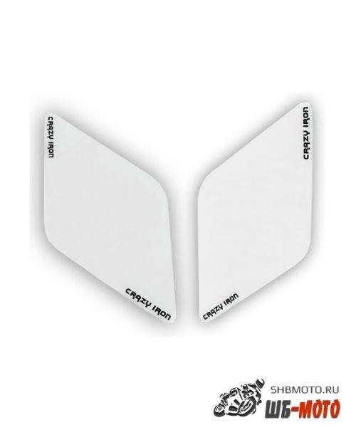 CRAZY IRON Наклейка на бак боковая, прозрачная AntiScratch