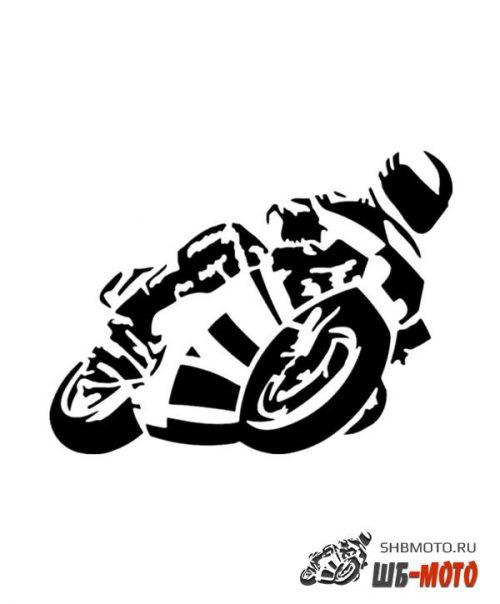 CRAZY IRON Наклейка на авто Biker 609