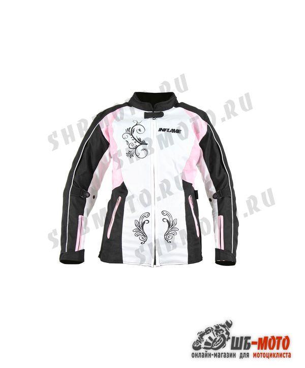 Куртка женская INFLAME TRACERY текстиль, цвет бело-розовый