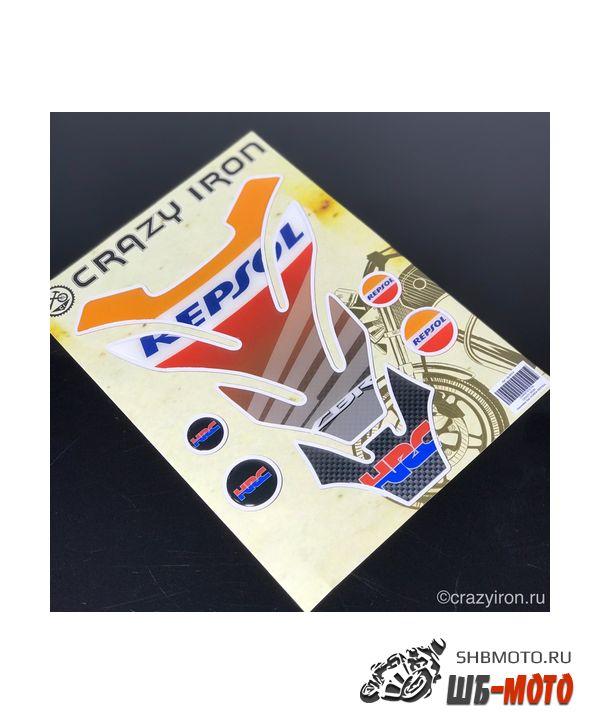 CRAZY IRON Наклейка на бак Honda REPSOL