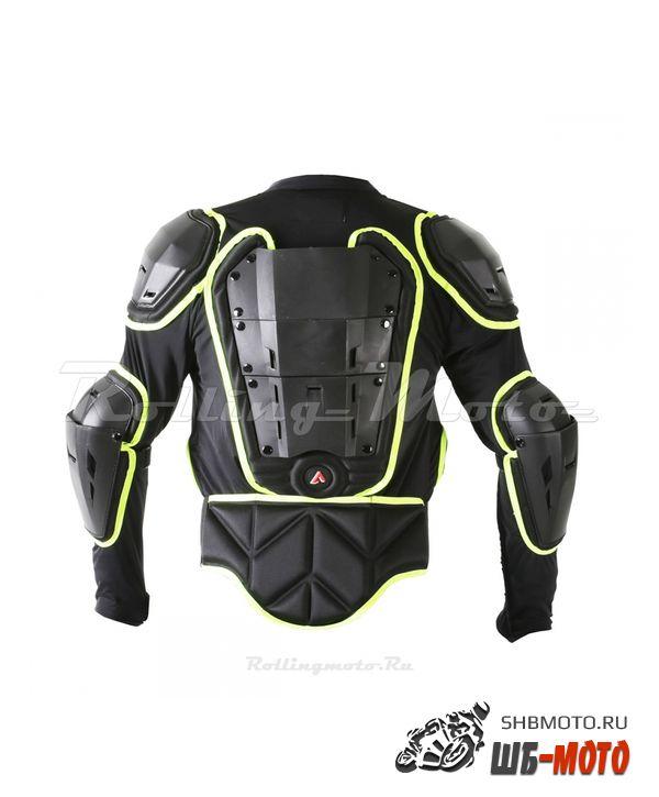 Черепаха защитная ATAKI SC-220 черная/Hi-Viz зеленая  L