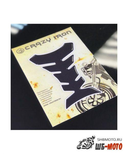 CRAZY IRON Наклейка на бак FISH, текстура карбона