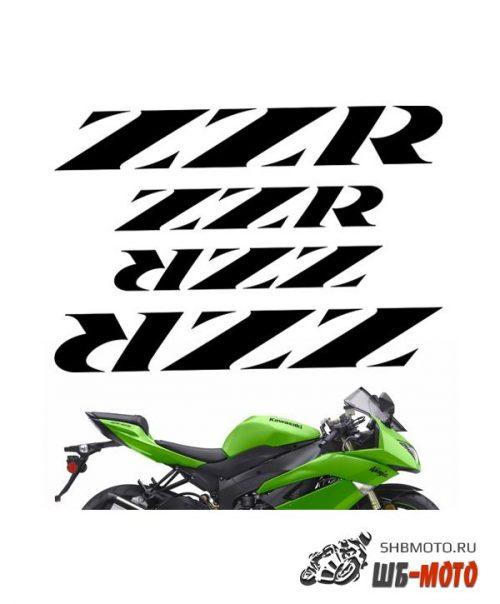 "CRAZY IRON Комплект наклеек ""KAWASAKI ZZR"" Цвет: Белый"