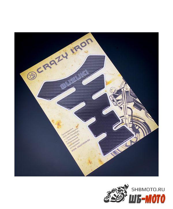CRAZY IRON Наклейка на бак SUZUKI текстура карбон