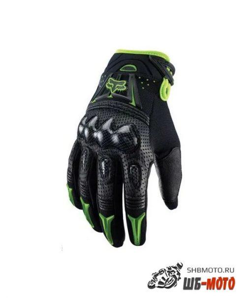 Fox Racing Bomber Gloves мотоперчатки Черн-Зел