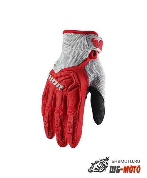 Детские перчатки кросс Thor S20Y Spectrum Rd-Gy