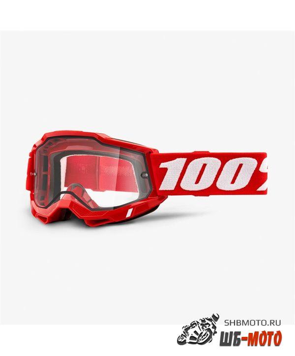 Очки 100% Accuri 2 Enduro Goggle Red / Clear Dual Lens