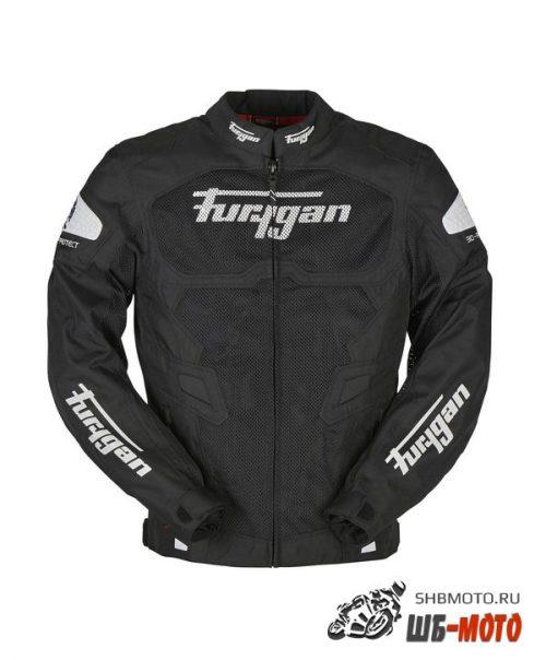 FURYGAN Мотокуртка ATOM VENTED текстиль, цвет Черный/Бел