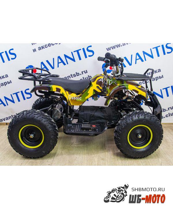 Детский квадроцикл ATV Classic Mini (электростартер) (Сафари (зеленожелтый камуфляж))