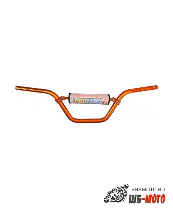 Руль PRO-TAPER алюминевый с перемычкой высокий оранжевый