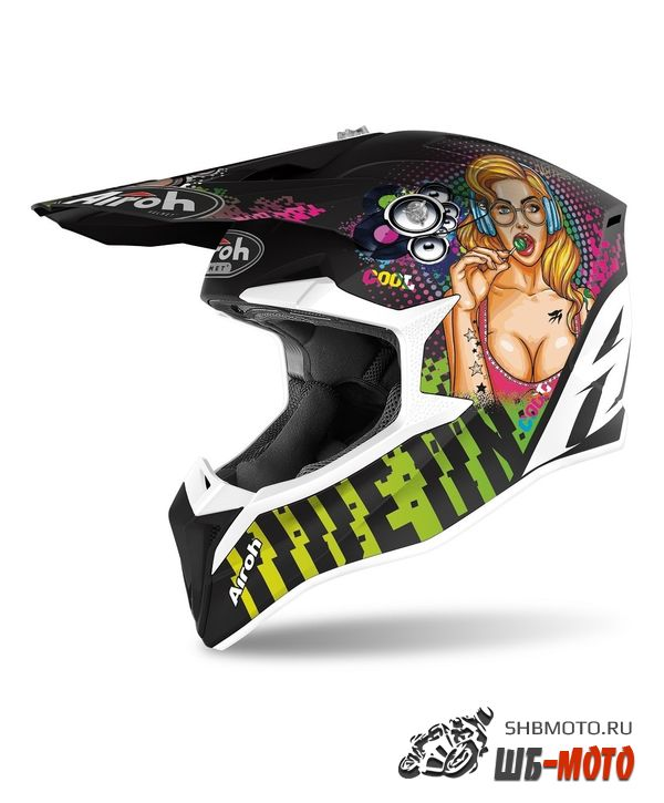 Airoh Шлем WRAAP PIN-UP MATT