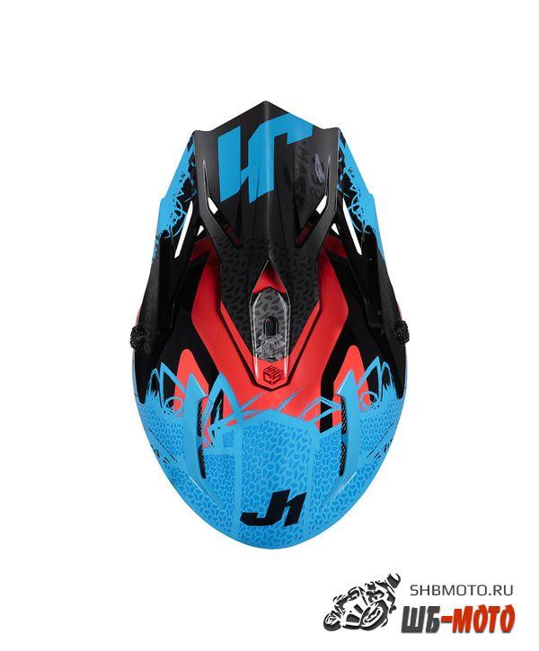 JUST1 Шлем J38 MASK синий/красный/черный глянцевый (2021)
