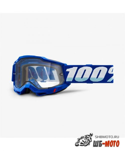 Очки 100% Accuri 2 Enduro Goggle Blue / Clear Dual Lens