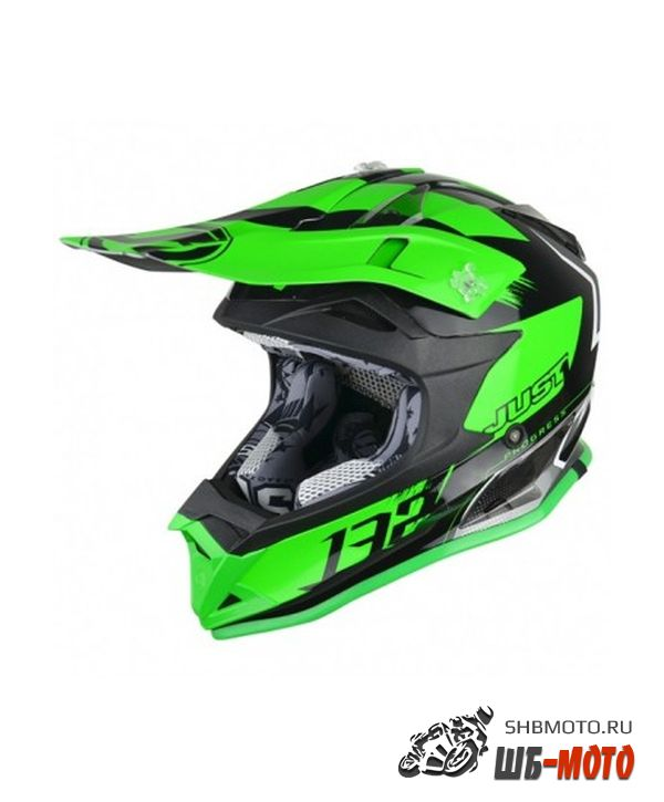 JUST1 Шлем J32 YOUTH SWAT зеленый/черный