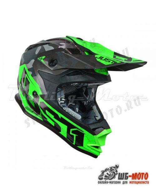 Шлем детский (кроссовый) JUST1 J32 YOUTH SWAT зеленый/черный