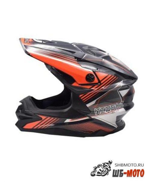 Шлем KIOSHI Holeshot 801 кроссовый Серый/оранжевый