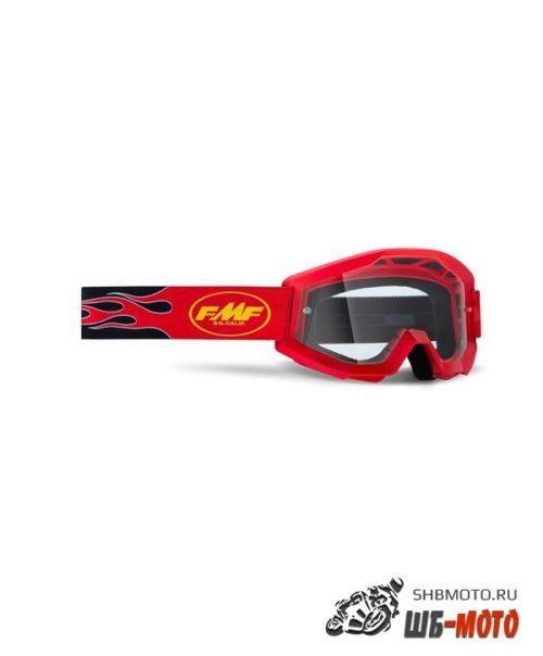 Очки FMF - 100%  PowerCore Flame Red