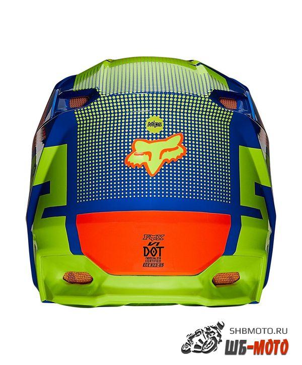 Мотошлем Fox V1 Oktiv Helmet Blue, 2021