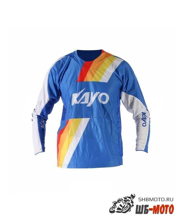 Футболка для мотокросса KAYO синяя/белая