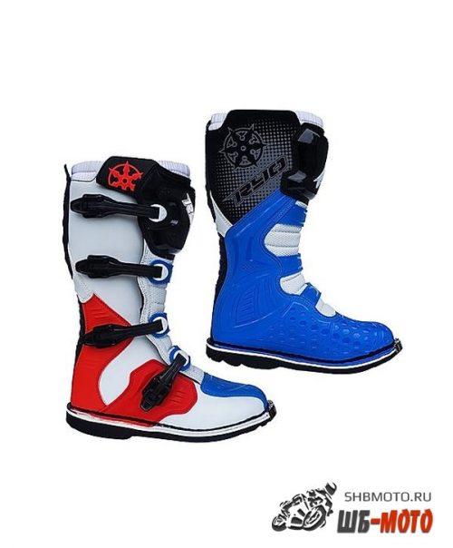 Мотоботы RYO Racing MX3 Бел/Син/Красн