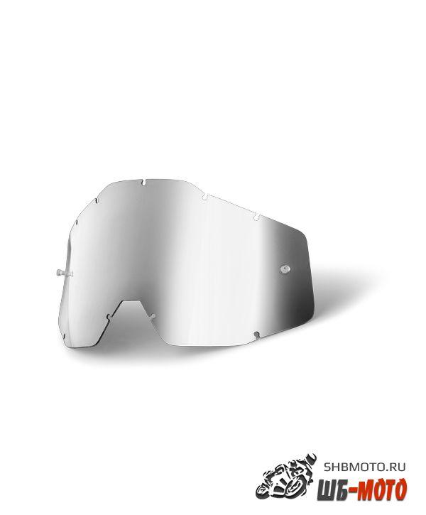 Линза 100% Racecraft/Accuri/Strata Anti-Fog Mirror Silver