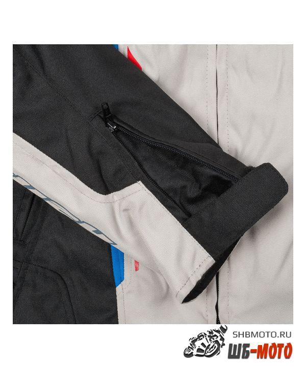 RUSH Мотокуртка BIO текстиль, цвет Белый/Черный/Синий