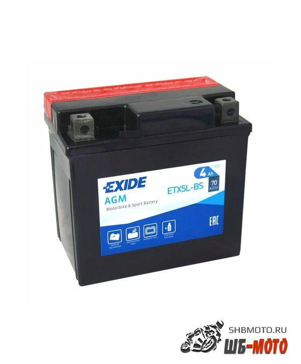 Аккумулятор EXIDE AGM YTX5L-BS, YTX5LBS