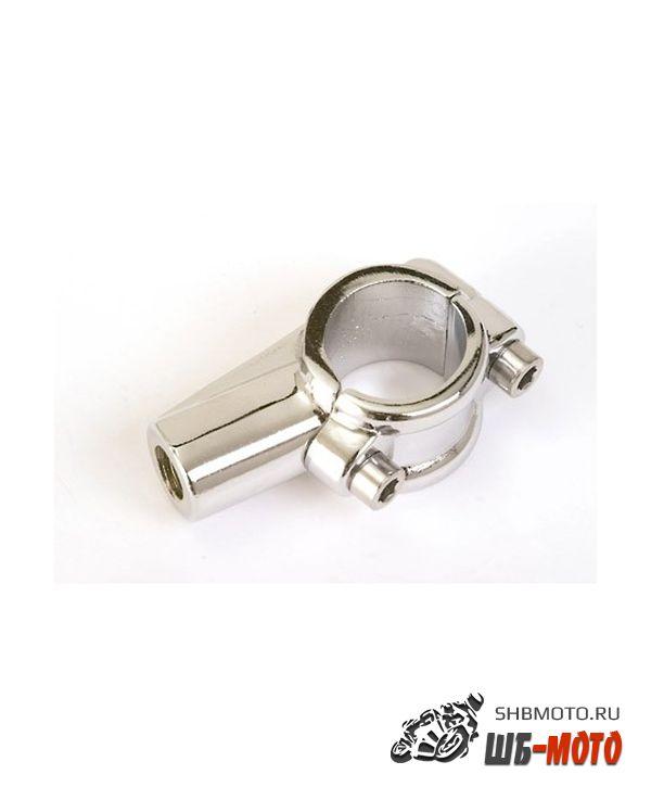 Кронштейн-хомут крепления зеркала на руль 22 мм, хром