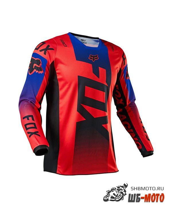 Мотоджерси Fox 180 Oktiv Jersey Red, 2021
