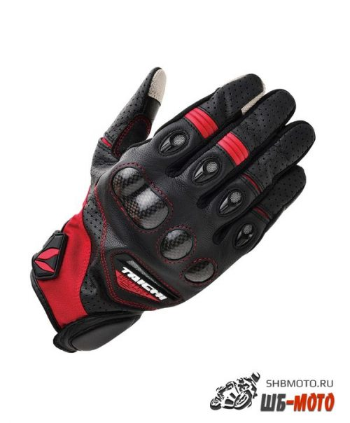 RS Taichi RST-417 Gloves кожаные мотоперчатки (ц. черный/красн)