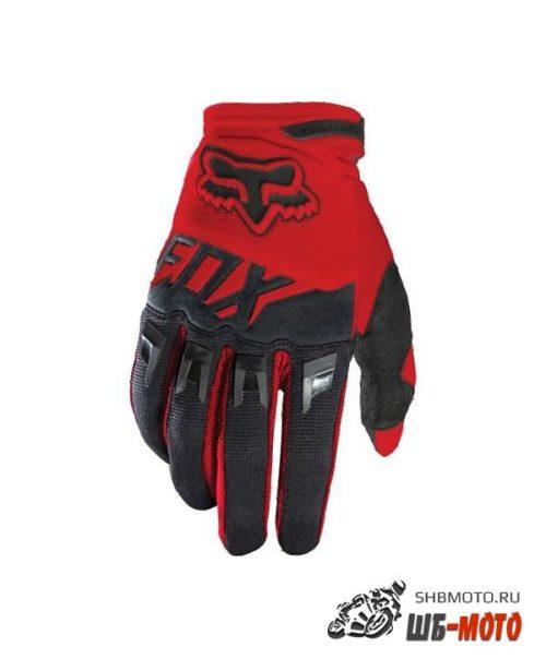 Fox Dirtpaw Race текстильные мотоперчатки (ц. красн/черн)