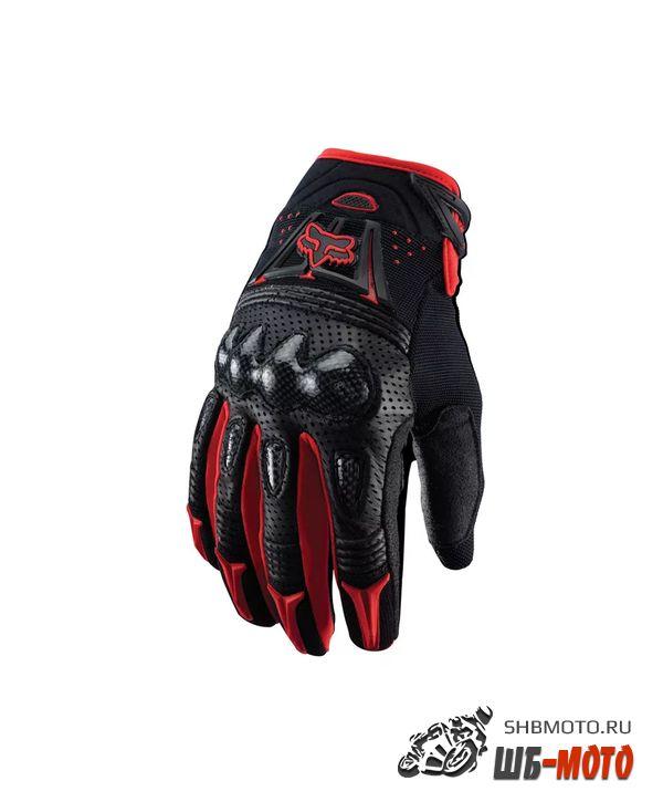 Fox Racing Bomber Gloves мотоперчатки комбинированные (ц. черно-красный)