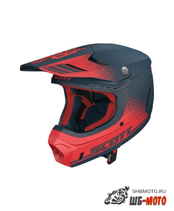 Шлем SCOTT 350 EVO Retro ECE deep blue/red